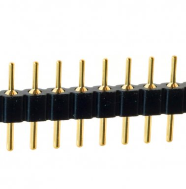 Connettore pin strip 36 poli passo 2.54mm con Pin Torniti Dorati Kontek 4719518136400