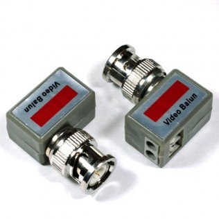 Coppia Balun Convertitore Video UTP - BNC a 90° VS202-R