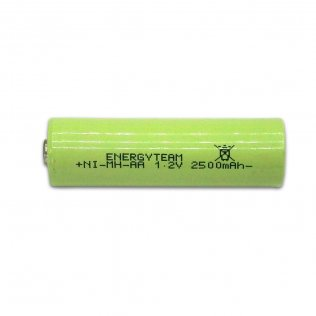 Batteria stilo AA 2500 mAh Ni-Mh bottone EnergyTeam