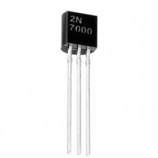 2N7000 Mosfet Canale N 60V 200mA 1,2 Ohm TO-92