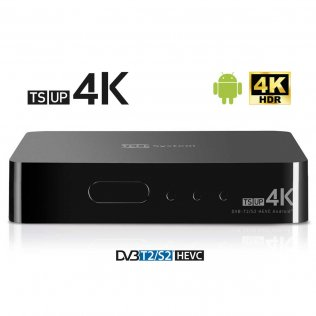Smart Box Android con Decoder Digitale Terrestre e Satellitare 4K Telesystem TS UP 4K 21005290