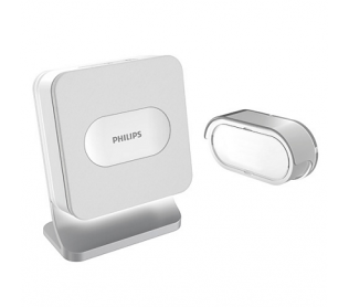 Campanello wireless Philips WelcomeBell 300 Basic con 4 suonerie e segnalazione luminosa
