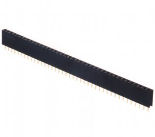 Pin Strip Femmina 40 Poli singola fila passo 2,54mm Altezza 8.5mm CONNFLY DS1023-1*40S21
