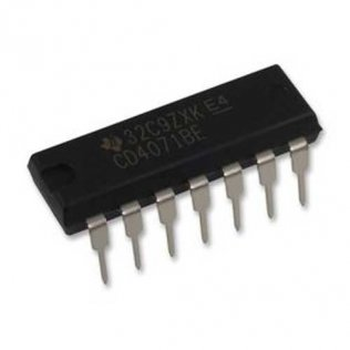Texas Instruments CD4071BE Circuito Integrato Logica CMOS 4 porte OR