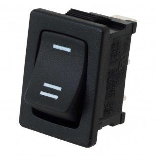 Rocker Switch Mini Deviatore a Bascula Unipolare 10A 250V Nero