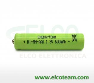 Batteria mini stilo AAA 600 MAh Ni-Mh bottone EnergyTeam