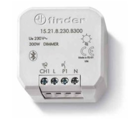 Dimmer Bluetooth da incasso con 1 uscita 300 Watt Finder YESLY 15.21.8.230.B300