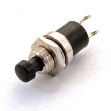 2 x pulsante miniatura da pannello nero 7 mm normalmente aperto 2Pz 230 Vac