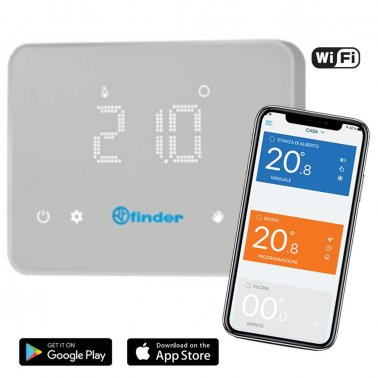 Cronotermostato Touch Screen Digitale Finder BLISS WiFi 1C.91.9.003.0W07