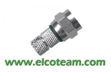 VCE Connettore F 7mm 6 Pezzi Accoppiatore F 3 Pezzi SAT Connettore Satellitare F Plug 7mm