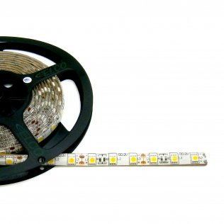 Strip Led Bianco Caldo 12V, 14,4W/m, IP65, modulo 5 cm