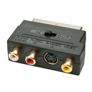 Lindy 35628 Adattatore da SCART a S-Video + 3 RCA