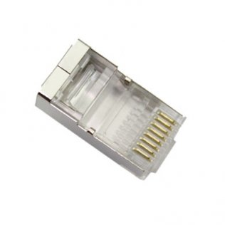 Connettore RJ45 Cat.5e Schermato 8P/8C a Crimpare