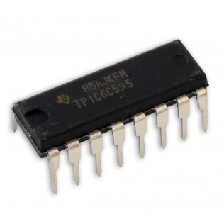 TPIC6C595N Shift Register 8 bit Seriale - Parallela DIP16 Texas Instruments