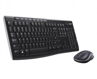 Logitech MK270 Wireless Combo Set, USB, Plug and Play