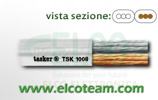 Piattina audio bianco 2x1 mm Tasker TSK1008