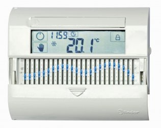 Cronotermostato Slide Touchscreen Finder Bianco