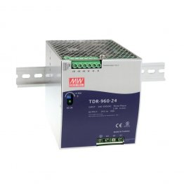 Alimentatore trifase Mean Well TDR-960-24 Barra DIN 24V, 40A 960W