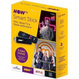 NOW TV Smart Stick con i primi 3 mesi a scelta fra Cinema oppure Serie TV e Intrattenimento