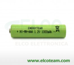 Batteria mini stilo AAA 1.0 Ah Ni-Mh bottone EnergyTeam