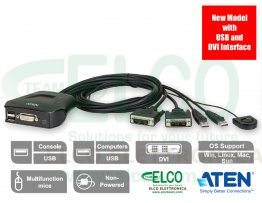 KVM switch USB/DVI 2 porte Aten CS22D