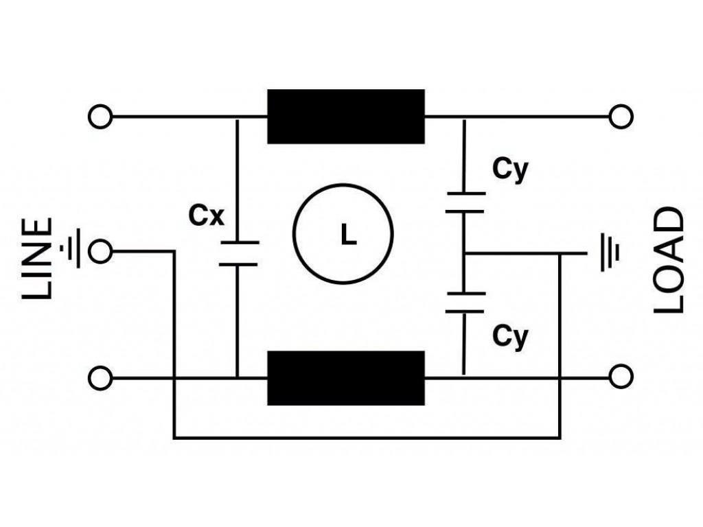 actronic ar07 6a filtro emi con spina iec da 6 ampere