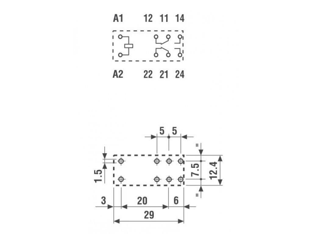 Schema Elettrico Relè Interruttore : Finder 40.52.8.230.0000 relè elettromeccanico bobina 230 vac