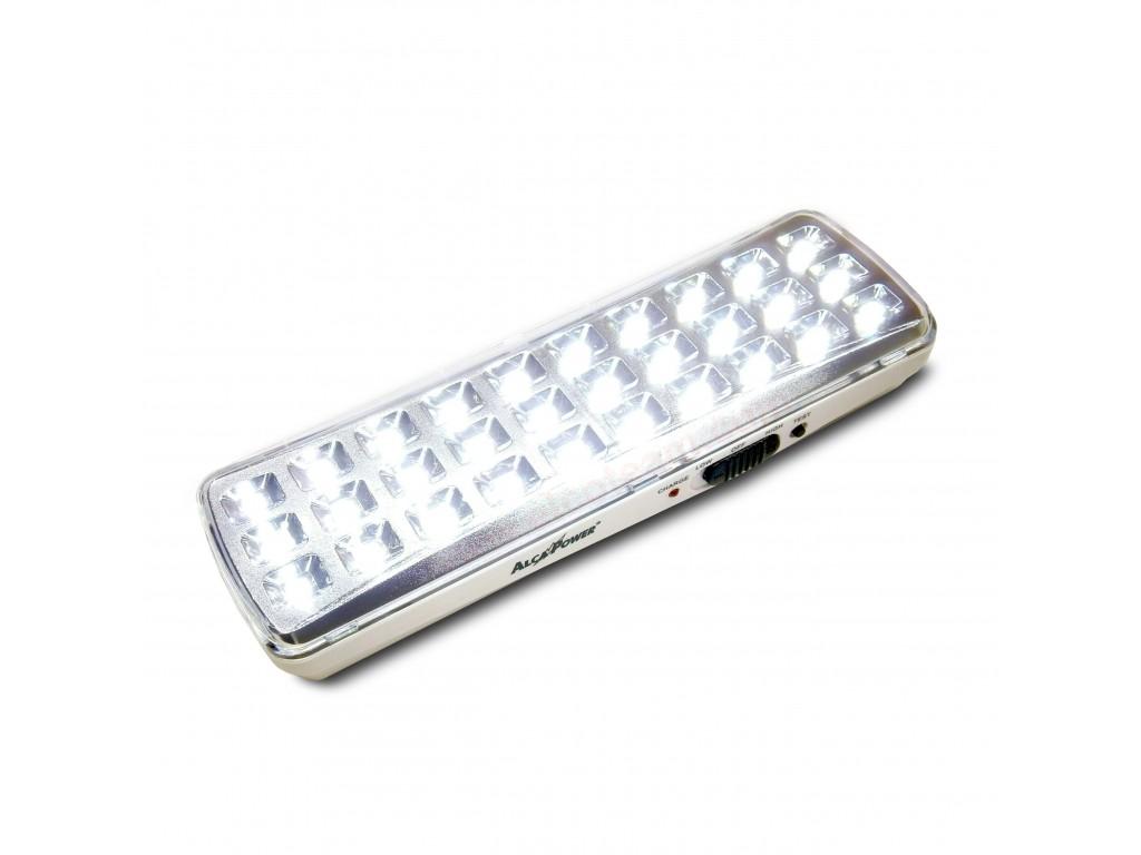 Alcapower lampade di emergenza slim con led e batteria