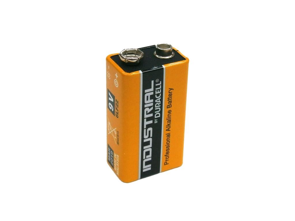 Duracell industrial batteria 9v 6lf22 mn1604 for Porta batteria 9v