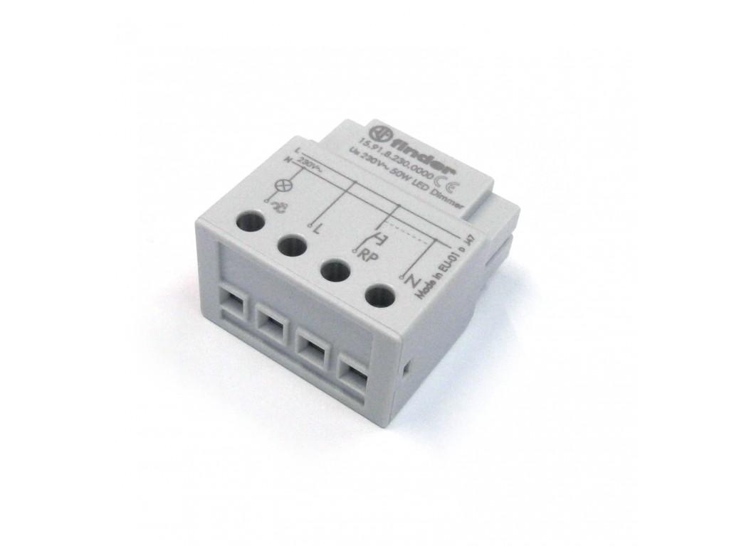 Schema Collegamento Lampada Con Sensore Di Movimento : Dimmer varialuce per led 230v con comando a pulsante finder 15.91