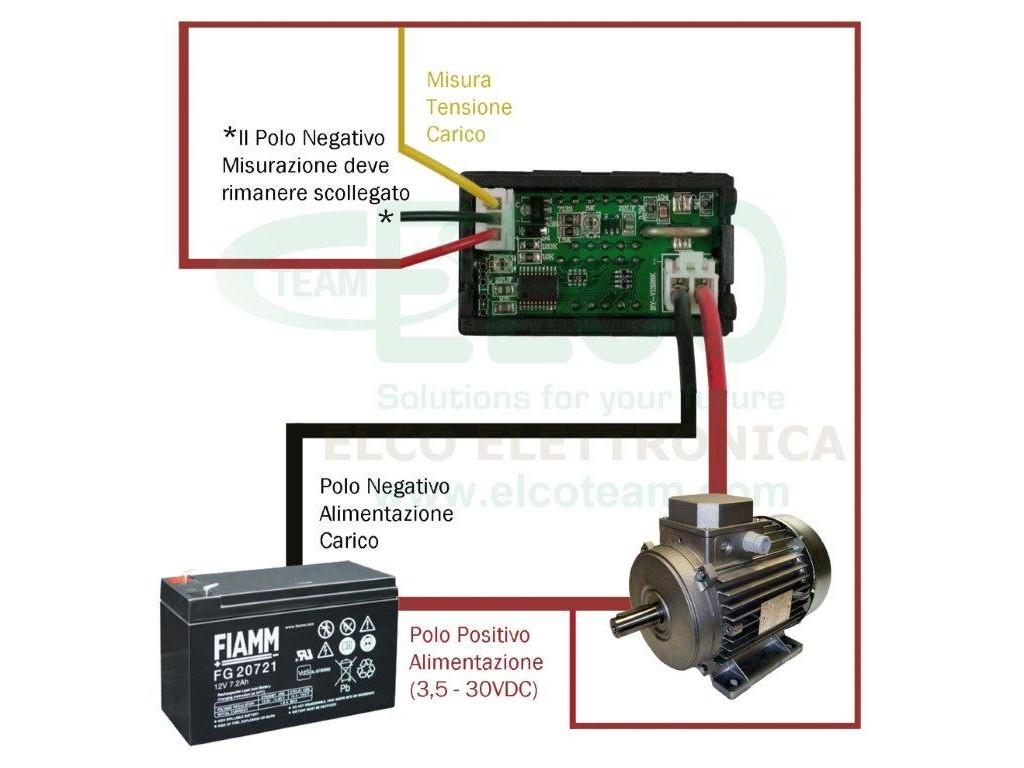 Schema Elettrico Voltmetro Per Auto : Strumento doppio display voltmetro v amperometro a
