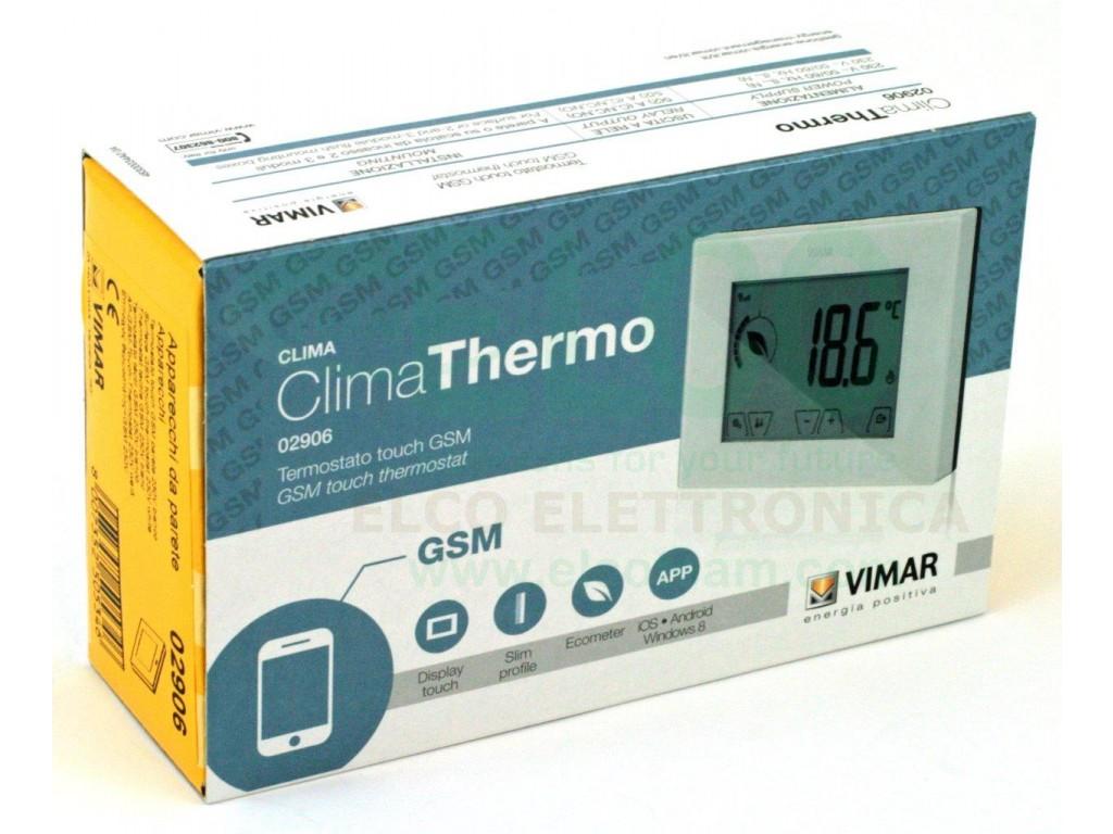 termostato touchscreen gsm vimar 02906
