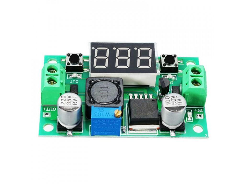Schema Elettrico Elevatore Di Tensione : Modulo riduttore di tensione dc dc 1 3u201337 vdc 3a max con display