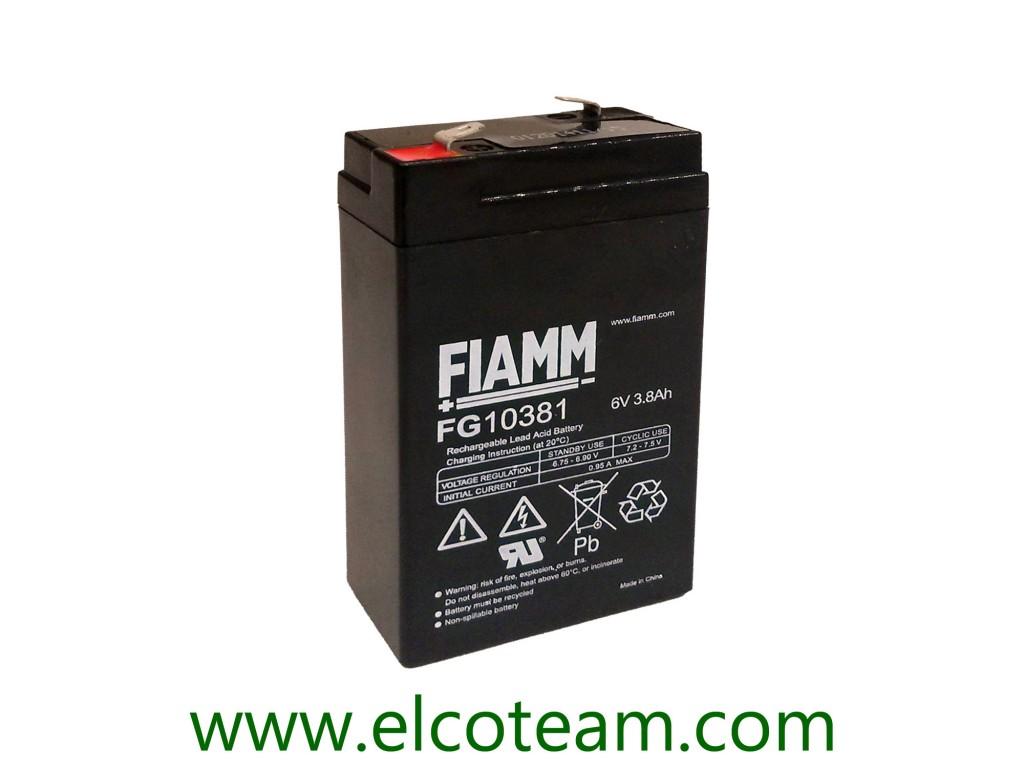 Batterie Per Lampade Di Emergenza Ova.Fiamm Fg10381 Batteria Ermetica Al Piombo 6v 3 8 Ah