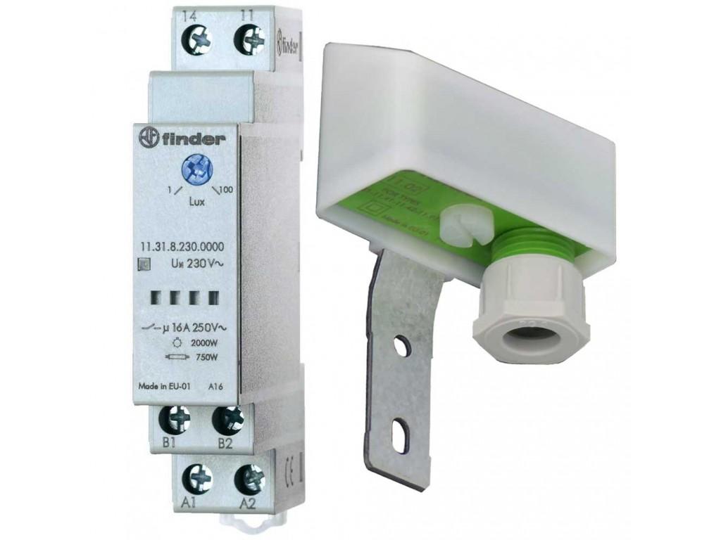 Schema Elettrico Interruttore Crepuscolare 230v : Finder interruttore crepuscolare vac a