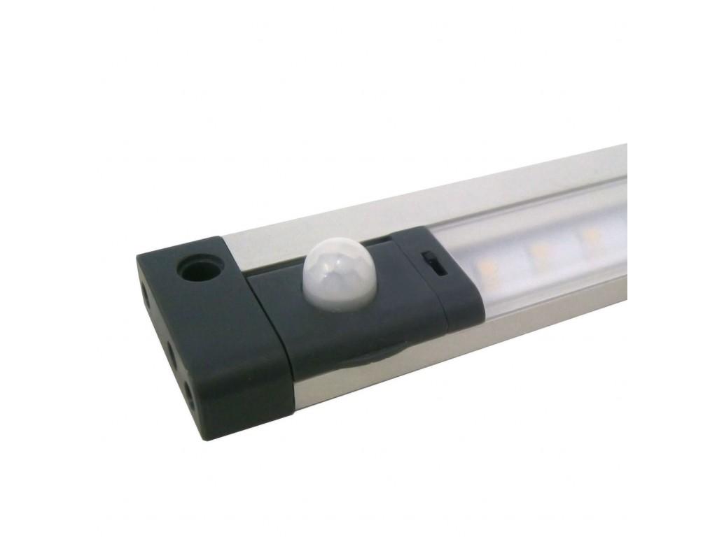 Plafoniera Con Sensore Incorporato : Barra a led piatta 24v 5w l=50cm con sensore pir orientabile colore