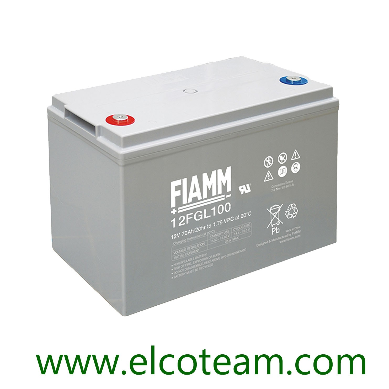 Batteria a Scarica Lento Power Battery 12v 100ah Doppio Terminale