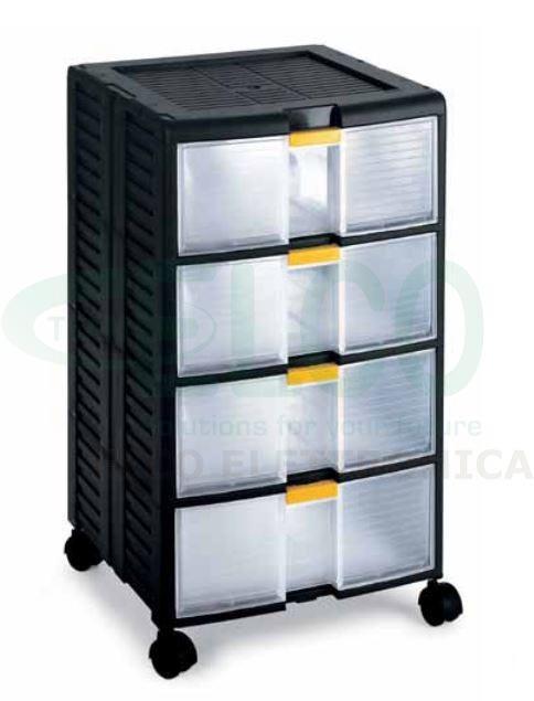 Terry 44001 cassettiera modulare store age con ruote for Schedari per ufficio