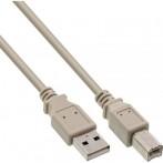 Cavo USB 2.0 A Maschio / B Maschio 0,5 metri grigio InLine 34505H