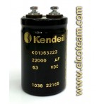 Condensatore elettrolitico Kendeil 22000µF 63VDC