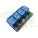Modulo Relè Optoisolato 4 canali per Arduino