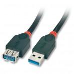 Prolunga USB 3.0 Tipo A M/F 3m - Nera
