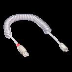 Cavo USB 2.0 Spiralato A - Micro B Maschio - Maschio 2 metri