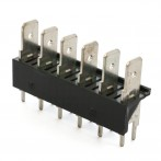 Stelvio CQS/B6/6.3 Connettore a Faston 6 poli da PCB passo 7,62 mm