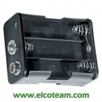 Portabatteria per 6 stilo AA 3-3