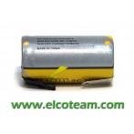 Batteria sub-mezza torcia SC 1.3Ah Ni-Cd lamella a saldare