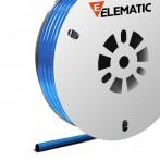 Guaina Termorestringente Ø6,4mm in Bobina vendita a metro, Blu, Elematic ET100