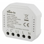Modulo Switch Relè da Incasso 10A Smart Wi-Fi Hom-io Funzione On-Off 1 Canale