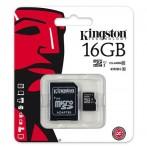 Kingston SDC10G2/16GB microSD 16GB con adattatore