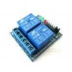 Shield per Arduino con 2 Relè elettromeccanici bobina 12V